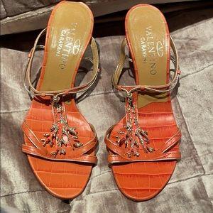 VALENTINO GARAVANI Coral & Crystal Sandals